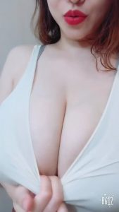 Anri Okita exposing her huge boobs