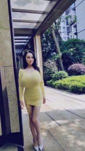 Youyoulama yellow tight dress